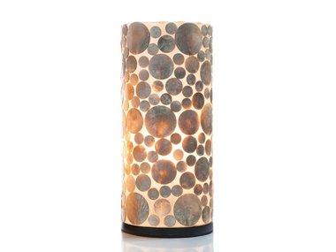 Villaflor Schelpenlamp - Coin Gold - Cilinder - 40 cm
