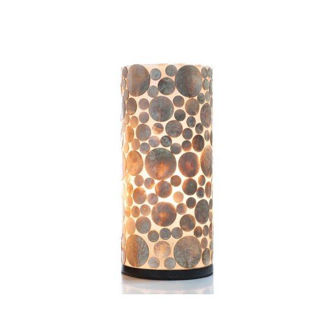 Schelpenlamp - Coin Gold - Cilinder - 40 cm