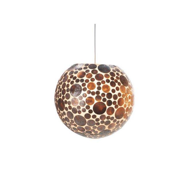 Villaflor schelpenlamp - Coin Gold - hanglamp - Hangende bol - Ø 40 cm