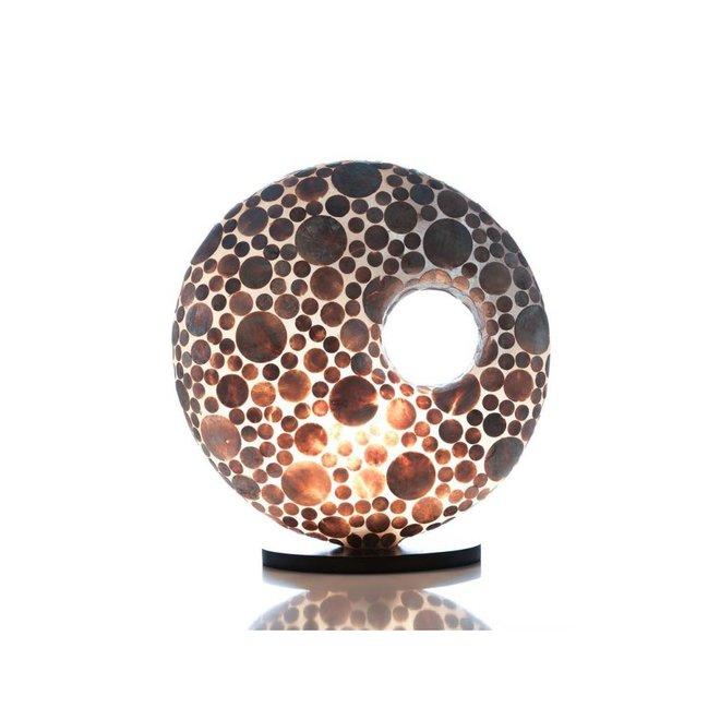 Villaflor schelpenlamp - Coin Gold - tafellamp, Donut