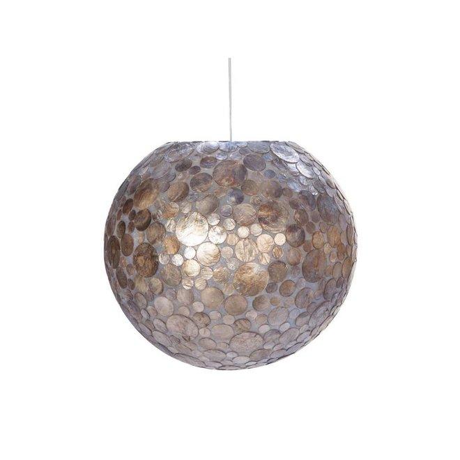 Villaflor schelpenlamp - Coin Gold - hanglamp - Hangende bol - Ø 50 cm