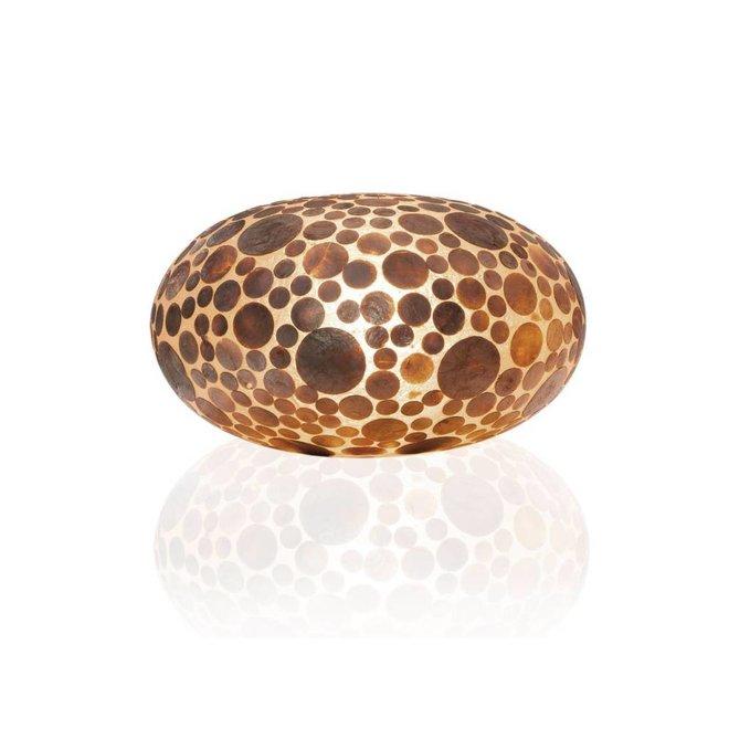Villaflor schelpenlamp - Coin Gold - tafellamp - UFO - Ø 40 cm
