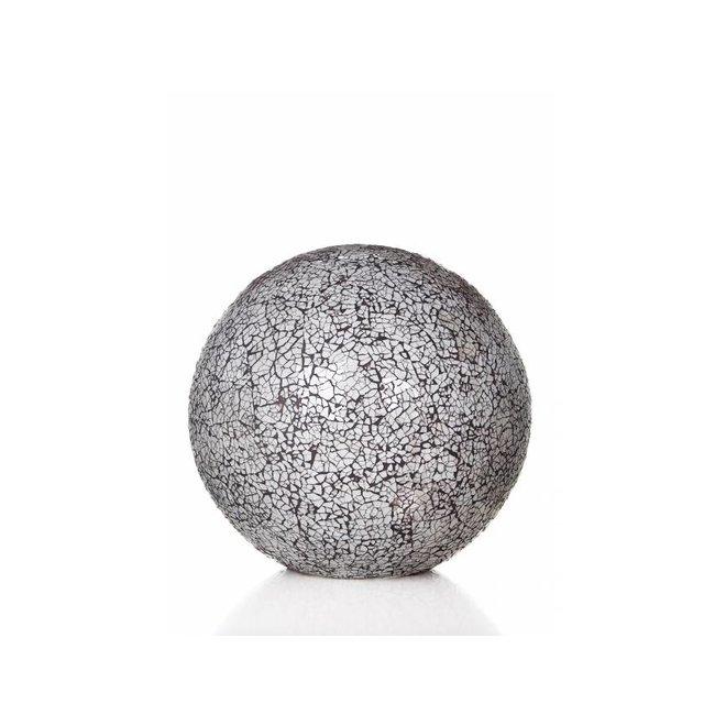 Glass White - tafellamp - Staande bol - Ø 30 cm