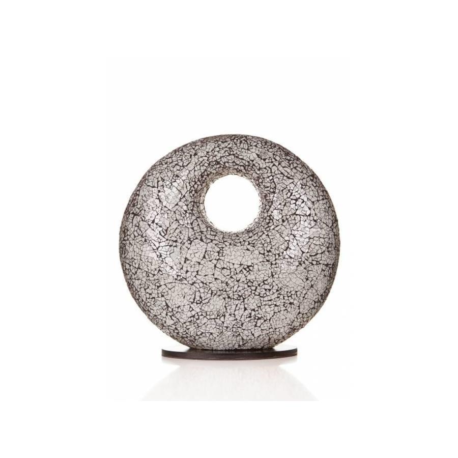Villaflor Glass White - tafellamp - Donut