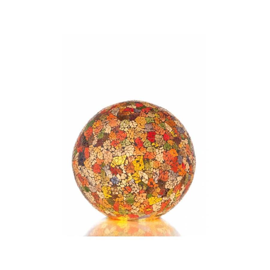 Villaflor Glass Multicolor - tafellamp - Staande bol - Ø 30 cm