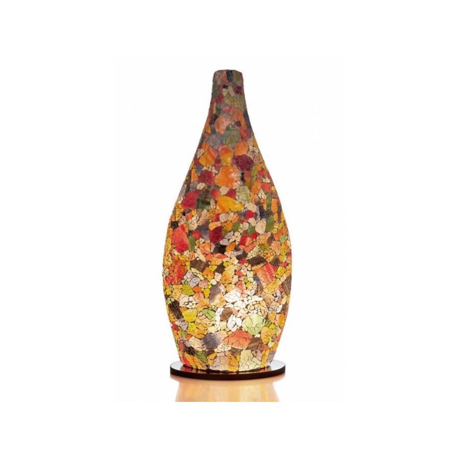 Villaflor Glass Multicolor - tafellamp - Bottle