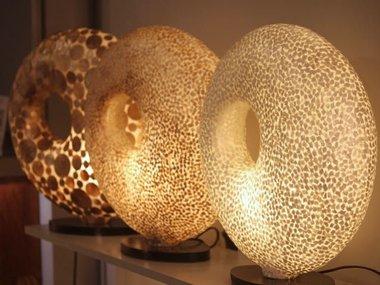 Schelpen tafellampen
