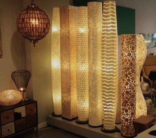 Schelpenlamp: staand of hangend in uw woonkamer!