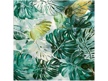 Image land Painting Monstera Leaves, Square 100x100