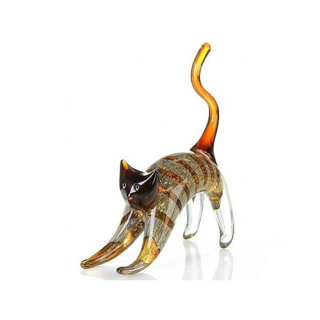 Glassculptuur 'Kat'