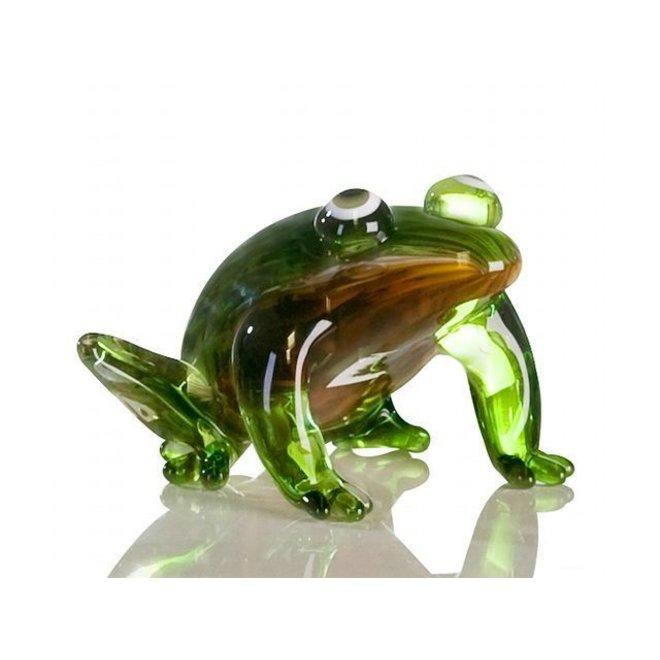 Glassculptuur 'Kikker'