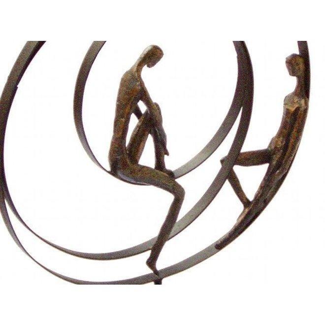 Figuur 'Patience' in brons