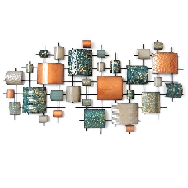Wall Art Domed Rectangles 146x77