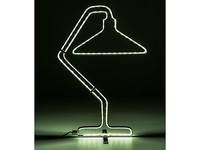 Kare Table Lamp Silhouette Chrome LED