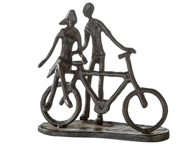 Casablanca Metal-Sculpture 'Pair on bike'