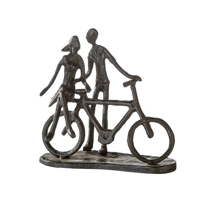 Metal-Sculpture 'Pair on bike'