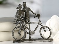 Casablanca Metal-Sculpture 'Pair on bike'
