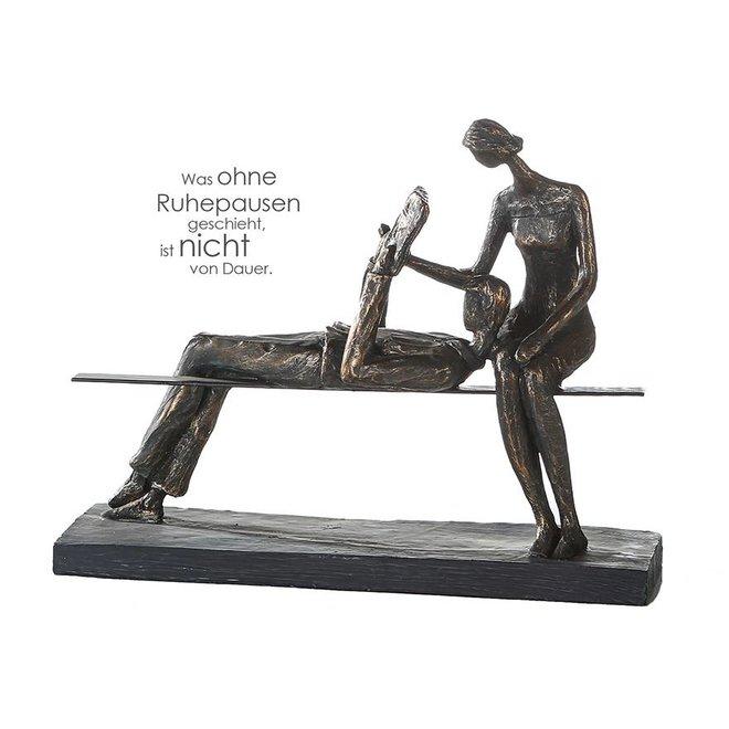 Figuur 'Rustpauze'  brons
