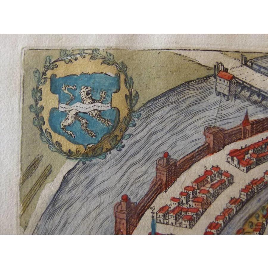 Gouldmaps Zwolle; G. Braun / F. Hogenberg - Swolla diu Celebris (..) - 1581