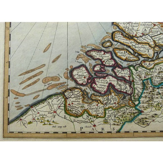Verkocht - Collectie Gouldmaps - Republiek der Nederlanden; J. Blaeu - Belgica Foederata. - 1662