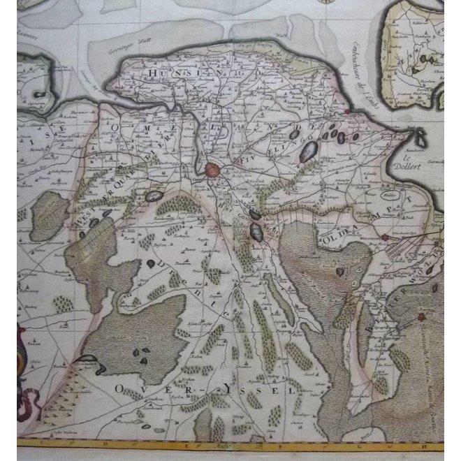 Verkocht - Collectie Gouldmaps - Groningen; H.Jaillot / P. Mortier - La Seigneurie de Groningue (..) - 1696