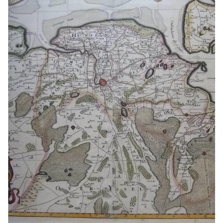 Gouldmaps Verkocht - Groningen; H.Jaillot / P. Mortier - La Seigneurie de Groningue (..) - 1696