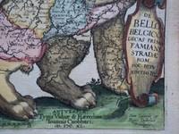 Gouldmaps Verkocht - Leo Belgicus; F. Strada - De Bello Belgico (..)-1640