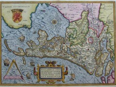 Gouldmaps Ortelius A. - Hollandiae Antiquorum (..) - 1579
