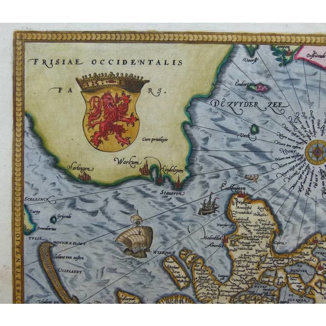 Verkocht - Collectie Gouldmaps - Holland; A. Ortelius - Hollandiae Antiquorum (..) - 1584
