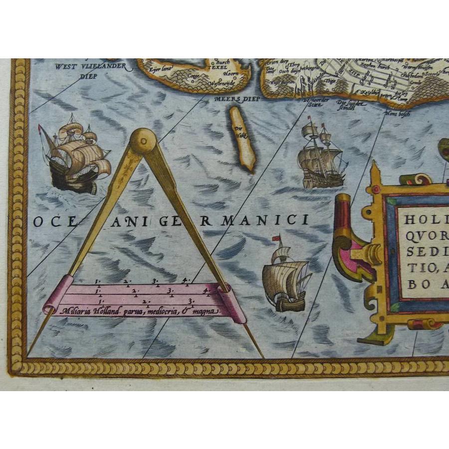 Gouldmaps A. Ortelius - Hollandiae Antiquorum (..) - 1579