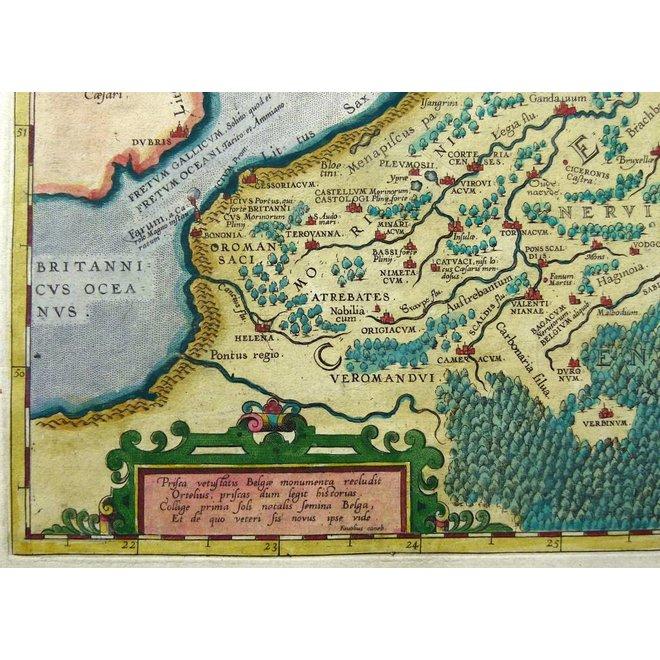 Collectie Gouldmaps - De lage landen; A. Ortelius - Belgii Veteris Typus. - 1584