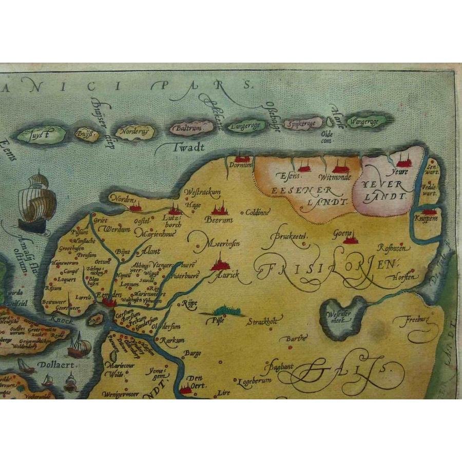 Gouldmaps A. Ortelius - Oost end West Vrieslandts beschrijvinghe (..) - 1584