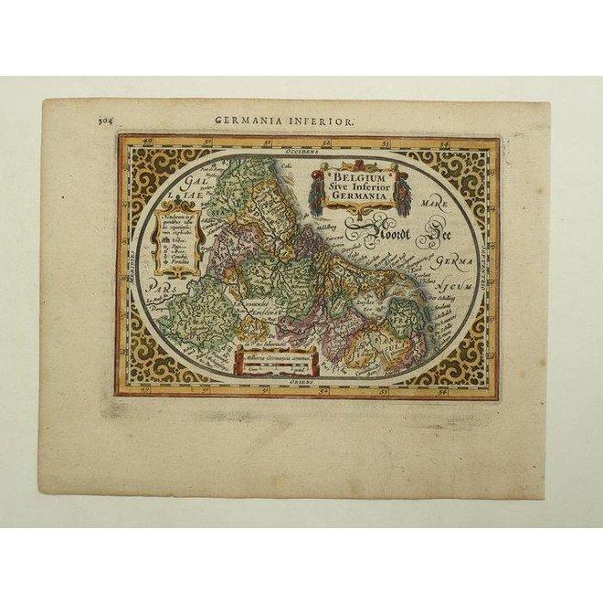 Verkocht - Collectie Gouldmaps - XVII Provinciën; J. Janssonius - Belgum Sive inferior germania - 1628