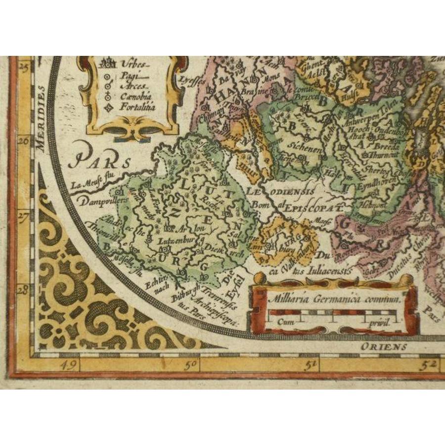 Gouldmaps XVII Provinciën; J. Janssonius - Belgum Sive inferior germania - 1628