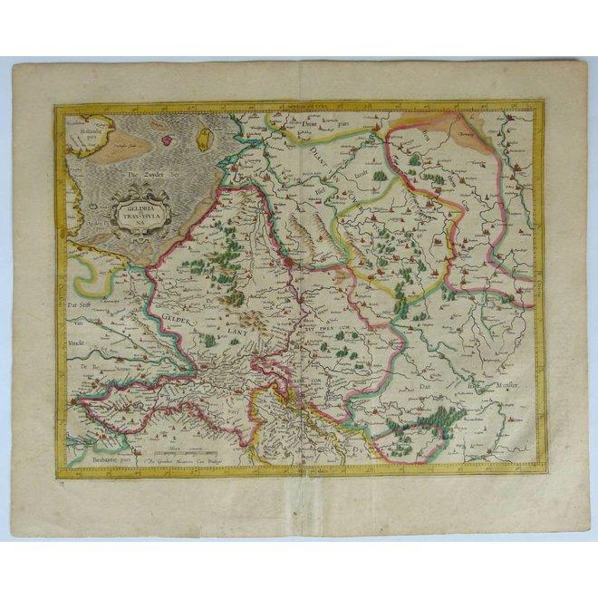Collectie Gouldmaps - Gelderland, Overijssel; J. Hondius / G. Mercator- Gelria et Transysulana - 1619