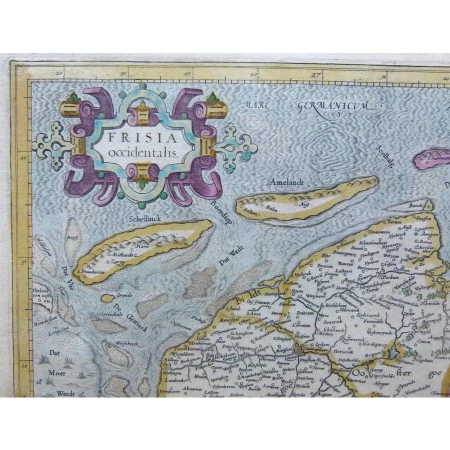 Gouldmaps Noord Nederland; G. Mercator / H. Hondius - Frisia Occidentalis - 1633