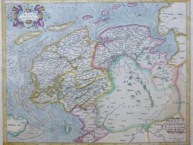 Gouldmaps Mercator G. / Hondius H. - Frisia Occidentalis - 1633