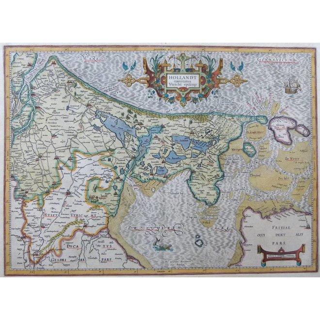 Verkocht - Collectie Gouldmaps - Holland; G. Mercator / J. Hondius - Hollandt Comitatus Utrecht Episcop: - 1613
