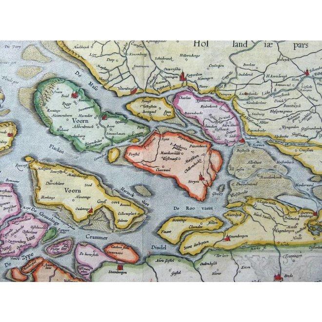 Collectie Gouldmaps - Zeeland; H. Hondius / G. Mercator - Zelandiae Comitatus - 1633