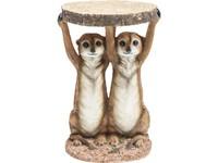 Kare Side Table Meerkat Sisters