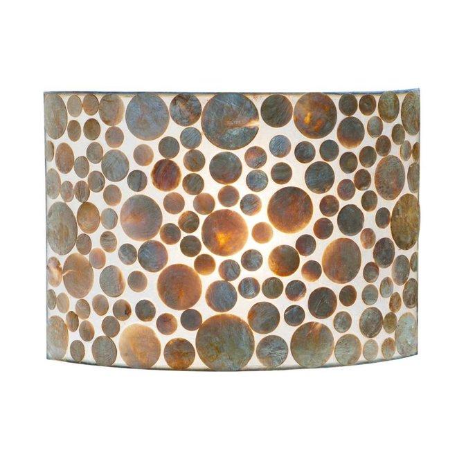 Villaflor schelpenlamp - Coin Gold - wandlamp - Rectangle