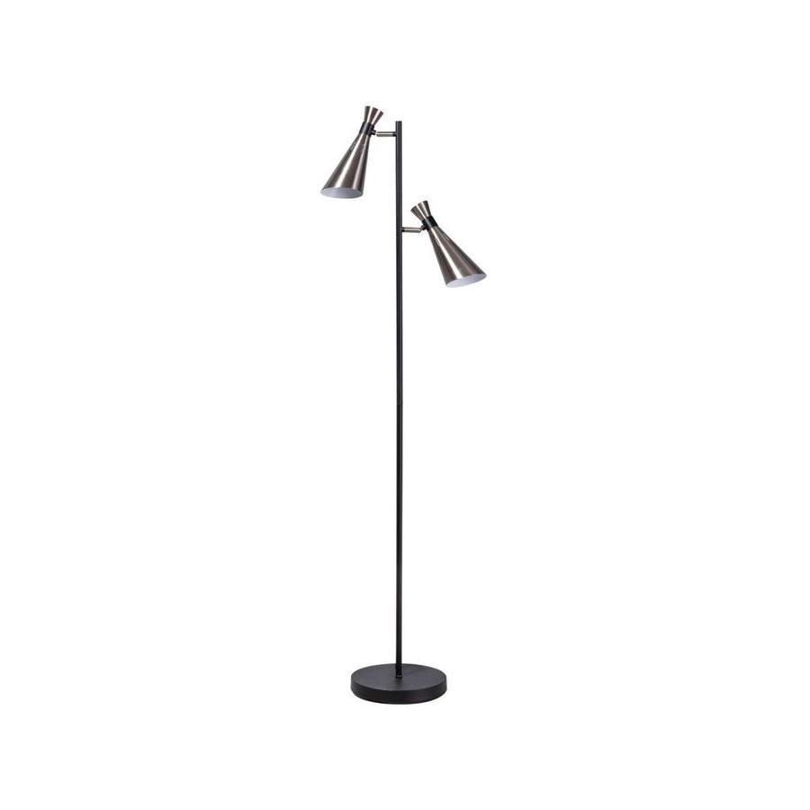 Expo Trading Vloerlamp York zwart/staal