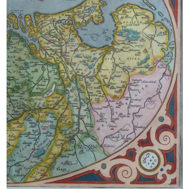 Collectie Gouldmaps - XVII Provinciën; A. Ortelius - Descriptio Germaniae Inferioris - 1603
