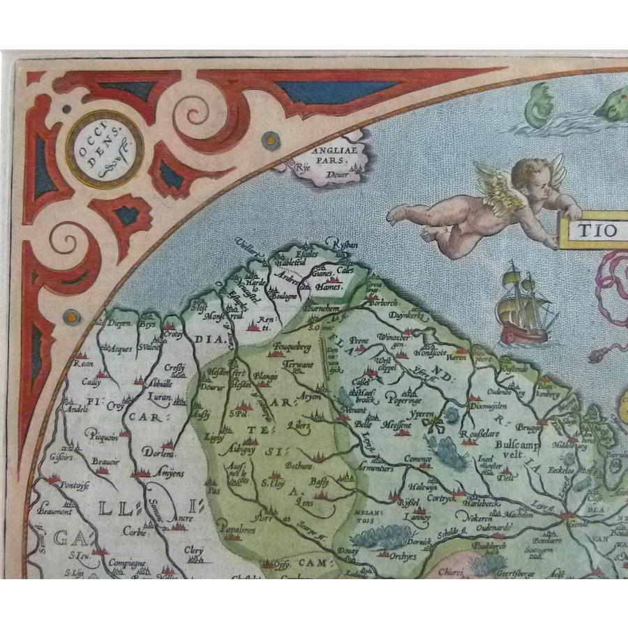 Gouldmaps XVII Provinciën; A. Ortelius - Descriptio Germaniae Inferioris - 1603