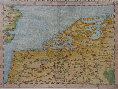 Gouldmaps De Nederlanden; G. Ruscelli - 1574