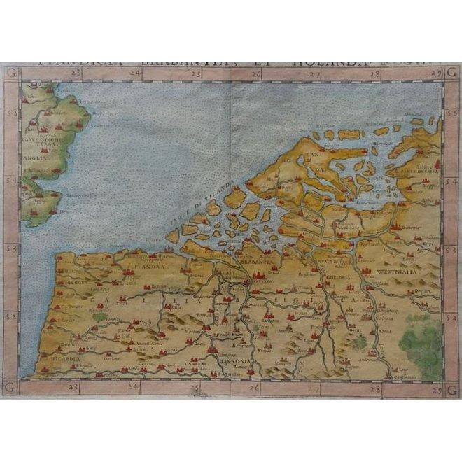 Collectie Gouldmaps - De lage landen; G. Ruscelli - 1574