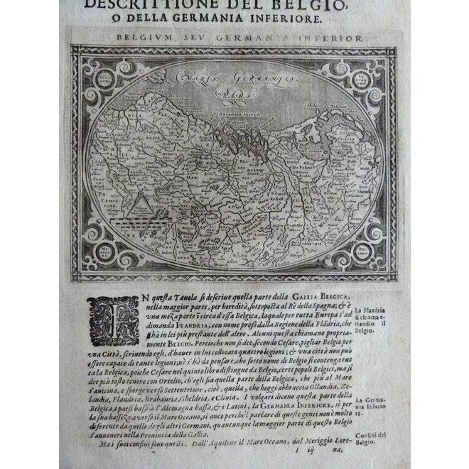 Collectie Gouldmaps - XVII Provinciën; G. Porro / G. A. Magini - Belgium, sev Germania Inferior - 1598