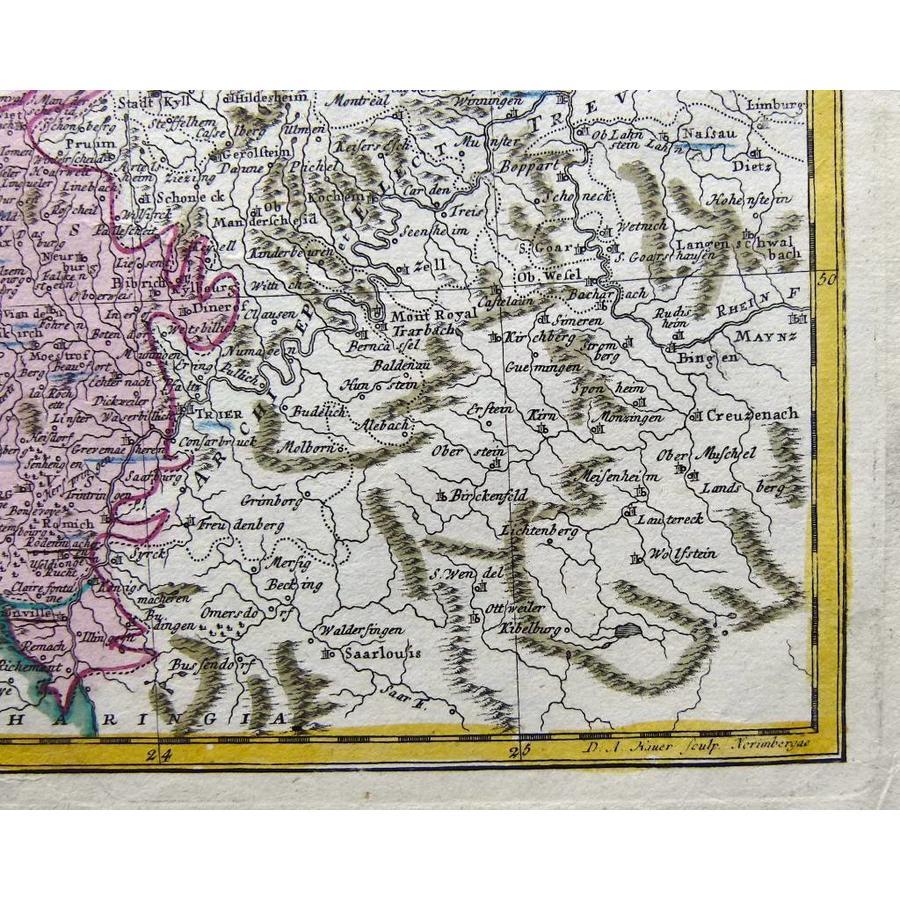 Gouldmaps XVII Provinciën; J.B. Homann erven - Belgii Universi seu Inferioris Germaniae - 1748