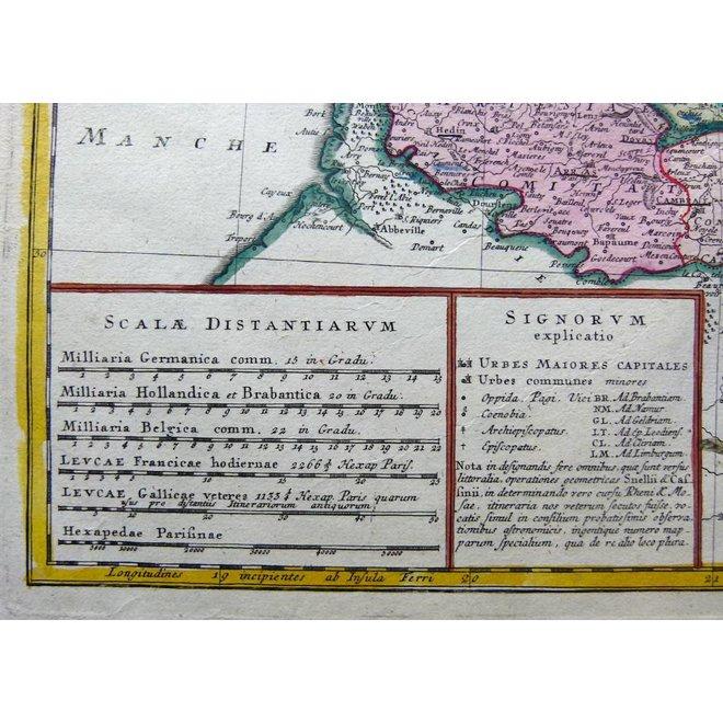 Verkocht - Collectie Gouldmaps - XVII Provinciën; J.B. Homann erven - Belgii Universi seu Inferioris Germaniae - 1748