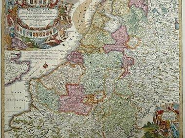 Gouldmaps Verkocht - XVII Provinciën; M. Seutter - XVII Provinciae Belgii sive Germeniae Inferioris. - 1745